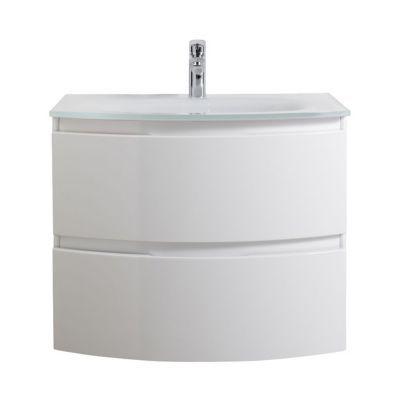 Meuble sous vasque blanc laqué COOKE & LEWIS Vague 70 cm