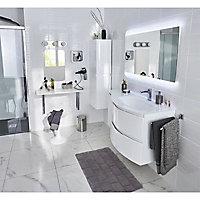 Colonne de salle de bains blanche 30 cm Vague