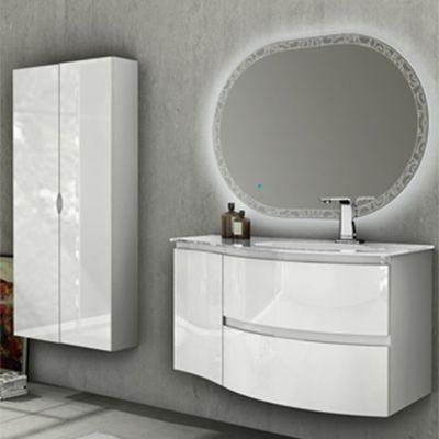 Meuble sous vasque blanc version droite COOKE & LEWIS Vague
