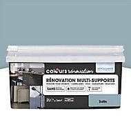 Peinture de rénovation multi-supports Colours bleu grisé satin 2L