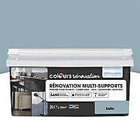 Peinture de rénovation multi-supports Colours bleu grisé satin 2L