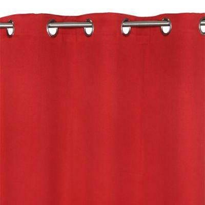 - Modèle : Vestris - Coloris : Rouge - Couleur de base : Rouge - Motif : Uni - Aspect : Mat - Occultant : Oui - Attaches : oeillets - Dimensions du produit (cm) : 140 x 240 - Matière principale : 100% Polyester - % polyester : 100 - Diamètre maximal de la