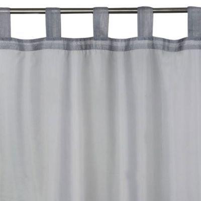 - Modèle : Newpastel - Coloris : Gris - Couleur de base : Gris - Motif : Uni - Décor : Uni - Aspect : Mat - Système d'attaches : Pattes - Dimensions du produit (cm) : 140 x 240 - Composition (% + valeur) : 100% polyester - Diamètre maximal de la barre (cm
