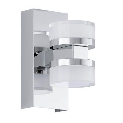 Cette applique de salle de bains en métal et en verre trouvera facilement sa place dans votre pièce. Son coloris classique associé à son style résolument moderne sublimera votre intérieur. Avec ses ampoules LED intégrées, elle vous fera réaliser de belles