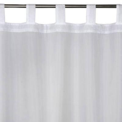 - Modèle : Newpastel - Coloris : Blanc - Couleur de base : Blanc - Motif : Uni - Décor : Uni - Aspect : Mat - Système d'attaches : Pattes - Dimensions du produit (cm) : 140 x 240 - Composition (% + valeur) : 100% polyester - Diamètre maximal de la barre (