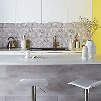 Carrelage mur gris effet béton 25 x 75 cm Izonso
