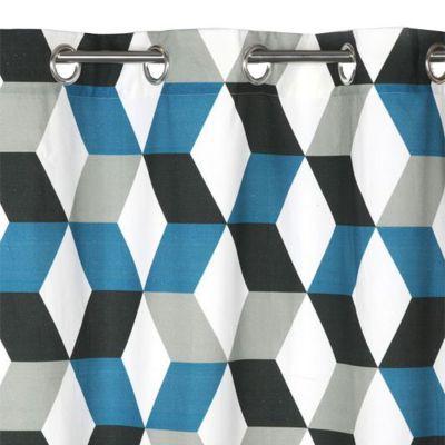 Rideau COLOURS Bernau 3D bleu 140 x 240 cm