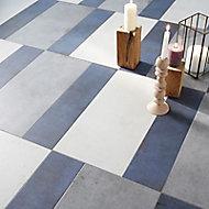 Carrelage sol et mur blanc effet béton 30,8 x 61,5 cm Extrema