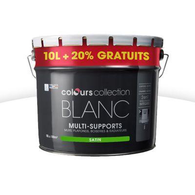 peinture multi supports colours collectin blanc satin 10l. Black Bedroom Furniture Sets. Home Design Ideas