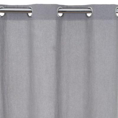 Rideau lin COLOURS Beaumaris gris 140 x 240 cm
