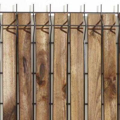 lames d 39 occultation pour grillage soud bois blooma x 40 cm castorama. Black Bedroom Furniture Sets. Home Design Ideas
