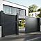 Portail en aluminium coulissant motorisé Alpes noir 350 cm