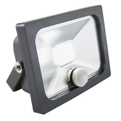 Projecteur extérieur à détection BLOOMA Manta noir LED 10W
