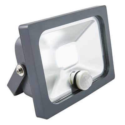 Projecteur LED à détection Blooma Manta gris 10W