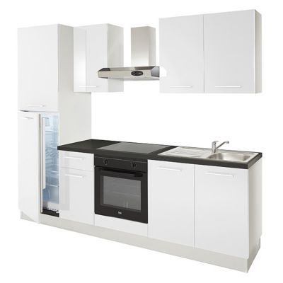 Cuisine compl te basic blanc all in castorama for Porte cuisine laquee