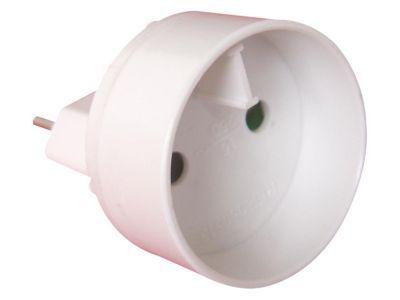 Adaptateur Mâle 6A en femelle 16A blanc