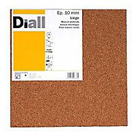 Dalle de liège DIALL - 50 x 50 cm ép.10 mm (vendu par lot de 4 dalles)
