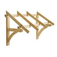 Auvent bois pour porte entrée Castorama Leo 147 x 76 cm