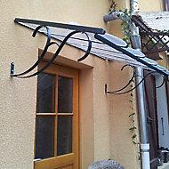 Marquise en fer rectangle petit modèle 150 x 100 cm