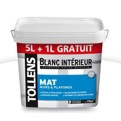 Peinture Murs Et Plafonds Tollens Blanc Intrieur Mat L