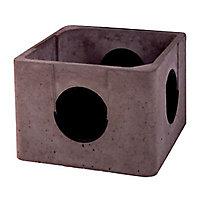 Boite à eaux pluviales allégée en béton 40 x 40 cm