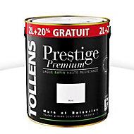 Peinture alkyde murs et boiseries Blanc satin 2L + 20%