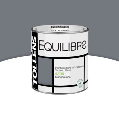 peinture murs et boiseries tollens equilibre cendre satin 0 5l castorama. Black Bedroom Furniture Sets. Home Design Ideas