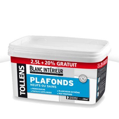 Peinture Plafonds Neufs Ou Sains Intrieur Tollens Blanc Mat L