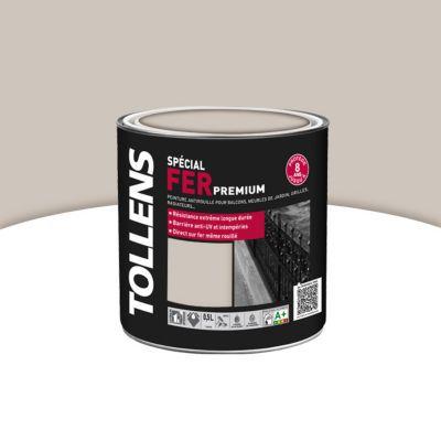 Peinture Fer Tollens Premium Gris Sable Brillant 05l Castorama