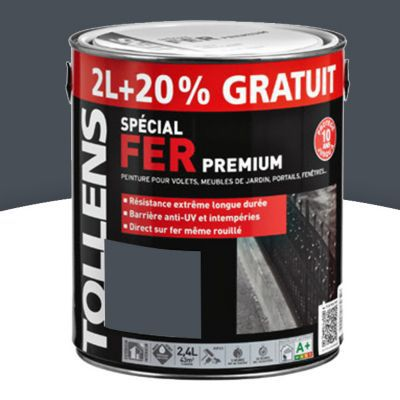 peinture fer tollens gris anthracite brillant 2l 20 gratuit castorama. Black Bedroom Furniture Sets. Home Design Ideas