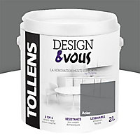 Peinture rénovation multi-supports Acier métallisé 2L