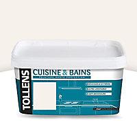 Peinture Tollens cuisine/SDB murs, plafonds et boiseries blanc craie satin 2L