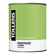Peinture murs et boiseries Tollens Pantone 15-0343 greenery satin 1L