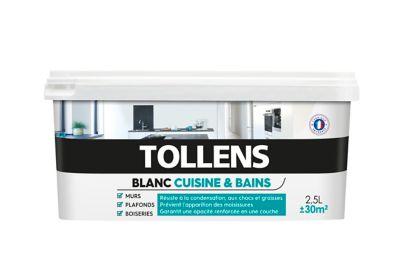 Peinture Tollens Cuisine Et Salle De Bains Blanc Satin 2 5l
