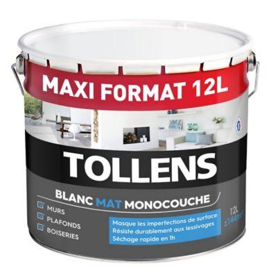 Peinture Murs Plafonds Et Boiseries Tollens Monocouche Blanc Mat 12l Castorama