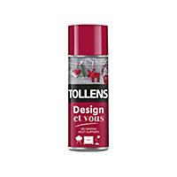 Peinture multi-supports en aérosol Tollens Design et vous rouge satin 400ml
