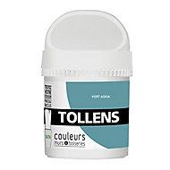 Testeur peinture murs et boiseries Tollens vert aqua satin 50ml