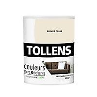 Peinture murs et boiseries Tollens brin de paille satin 0,75L