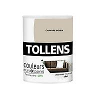 Peinture murs et boiseries Tollens chanvre indien satin 0,75L