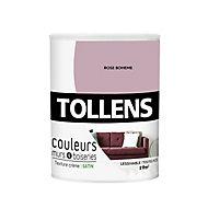 Peinture murs et boiseries Tollens rose bohème satin 0,75L