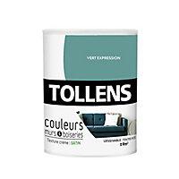 Peinture murs et boiseries Tollens vert expression satin 0,75L