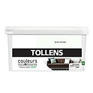 Peinture murs et boiseries Tollens blanc naturel satin 2,5L