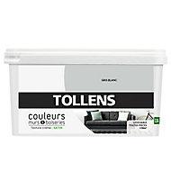 Peinture murs et boiseries Tollens gris blanc satin 2,5L