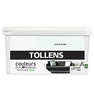 Peinture murs et boiseries Tollens touche de gris satin 2,5L