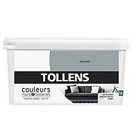 Peinture murs et boiseries Tollens gris silex satin 2,5L