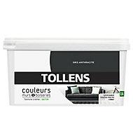 Peinture murs et boiseries Tollens gris anthracite satin 2,5L