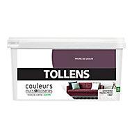 Peinture murs et boiseries Tollens prune de saison satin 2,5L