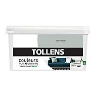 Peinture murs et boiseries Tollens vert poudré satin 2,5L