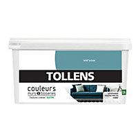 Peinture murs et boiseries Tollens vert aqua satin 2,5L
