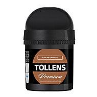 Testeur peinture Tollens premium murs, boiseries et radiateurs touche orangée mat 50ml